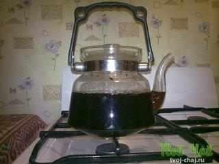 Способ приготовления пуэра - варка
